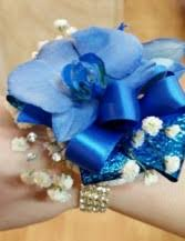 blue orchid corsage hot pink and silver wristlet corsage in tillamook or