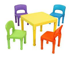 tavolo sedia bimbi liberty house toys tavolo per bambini con 4 sedie plastica