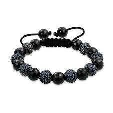 black bead bracelet in rubber bracelets