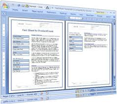 Event Fact Sheet Template Fact Sheet Template For Technical Writers These Ms Word Te Flickr