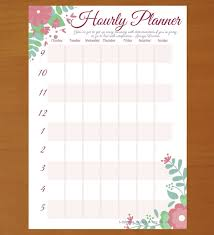 hourly calendar daily and weekly hourly planner template hourly