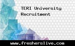 teri university recruitment 2018 apply online 5 job vacancies