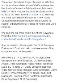 va national service desk nhs grian on twitter attend anywhere project team wins the