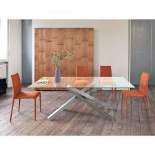 tavoli di cristallo sala da pranzo tavolo allungabile di design