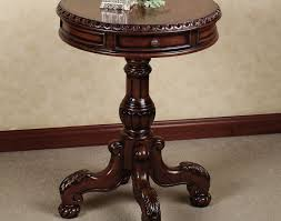 Espresso Side Table Table Phenomenal Espresso Pedestal Side Table Intriguing Red