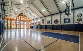 this andover home has a full size indoor basketball court