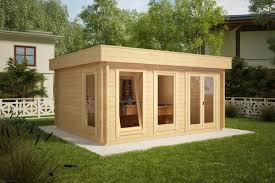 Gardens With Summer Houses - wooden log cabin garden log cabins uk
