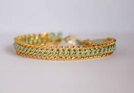 braided bracelet with chain images Diy woven chain bracelet jpg