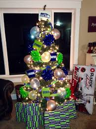 my son u0027a seahawks themed birthday tree since his bdays so close to