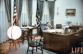 Two Different Colored Curtains Oval Office History White House Museum