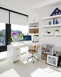 Built In Desk by Bright And Airy Small Home Office With Built In Desk For Apartment