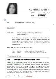 exle of cv resume create a cv free winkd co