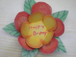 how to make birthday card how to make a colourful flower birthday card 5 steps with pictures