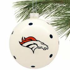 denver broncos geo spinner ornament denver ornaments and broncos