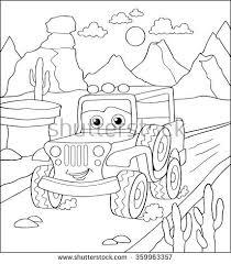 coloring book cartoon vector illustration black stock vector