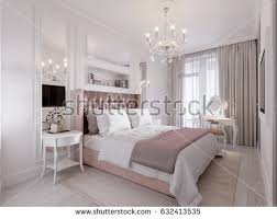 Modern And Classic Interior Design Spacious Bright Modern Contemporary Classic Bedroom Stock