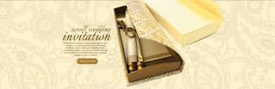 Indian Wedding Card Box Scroll Invitations Bat U0026 Bar Mitzvah Invitations Wedding