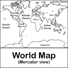 Blank World Map With Equator And Tropics by Map Continents Labeled