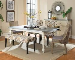 White Dining Room Table by Dining Room Set With Bench Best Seller Mark Carter 9piece Dining