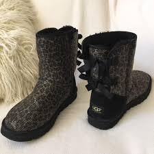 57 best ugg slippers and 57 ugg shoes ugg like ribbon black leopard boots