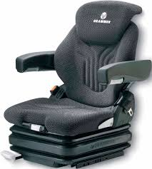 siege grammer construction equipment seat with suspension for forklift
