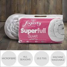 What Does 10 5 Tog Duvet Mean Fogarty Superfull 10 5 Tog Duvet Dunelm