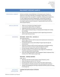 Sample Skills And Abilities For Resume Machinist Resume Samples Cnc Machinist Resumes