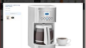 cuisinart dcc 3200 stainless steel coffeemaker youtube