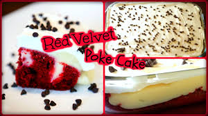 red velvet poke cake only 4 ingredients youtube