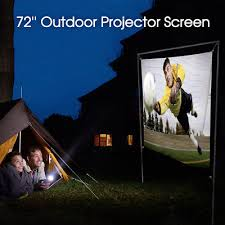 outdoor movie screen projector portable home theater backyard