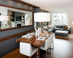 Dining Table Natural Wood Interior Grey Living Room And Dining Room Ideas Alongside Grey