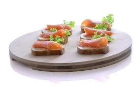 canape toast salmon canapes stock image image of canape toast salmon 27337485