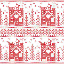 scandinavian nordic christmas seamless pattern with gingerbread