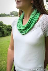 Upcycle Old Tshirts - 15 minute t shirt yarn infinity scarf d iy video tutorial u2014 the