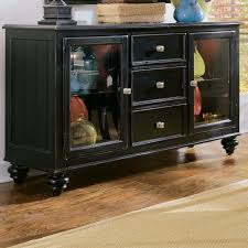 Credenzas And Buffets by Furniture Black Sideboard Buffet With Three Drawers And Simple