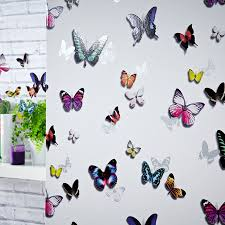 Girls Bedroom Feature Wall Girls Bedroom Butterfly Wallpaper In Pink White Teal More New