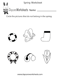 Worksheets For Kindergarten Printable Printable Spring Worksheet For Kids Crafts And Worksheets For