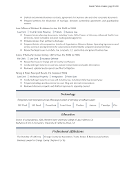 Corporate And Contract Law Clerk Resume Resumes Next Step Search U0026 Resume