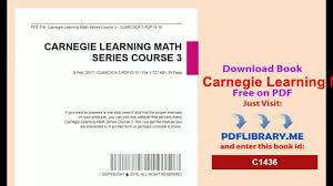 carnegie learning math series course 3 video dailymotion
