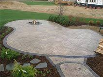 Backyard Stamped Concrete Ideas Small Backyard Patio Five Concrete Design Ideas The Concrete