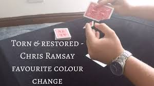 Favourite Color Chris Ramsay Favourite Color Change Used As A Torn U0026 Restored Card