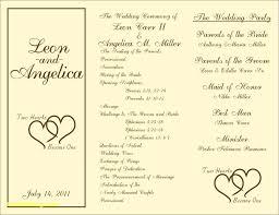 blank wedding program templates template blank wedding program template
