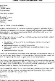 contract specialist cover letter sample