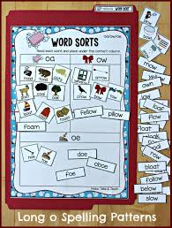 oa ow oe file folder word sorting activity great way to introduce