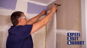 tile backsplash adhesive mat musselbound waterproofing u0026 shower installation youtube