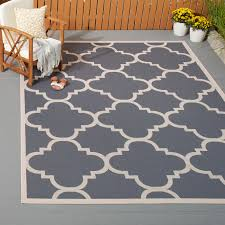 6x9 Outdoor Rug 6x9 Outdoor Rug New Safavieh Courtyard Quatrefoil Grey Beige