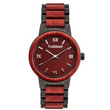truwood architect wooden watch made with deep red mahogany wood