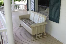 White Metal Patio Furniture - furniture alluring design of porch glider for outdoor furniture