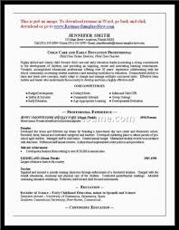 Childcare Worker Resume Resume Template Sample