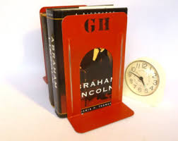 monogram bookends bookends etsy